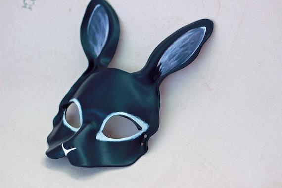 Bunny Masquerade Black Bunny Costume Men/'s Mask Rabbit Mask Women/'s Mask Rabbit Costume Mask