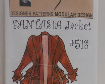 Panel Top And Panel Vest Kayla Kennington Sewing Pattern Uncut Etsy