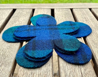 Coasters and Trivet Felted Wool UpCycled Fiber