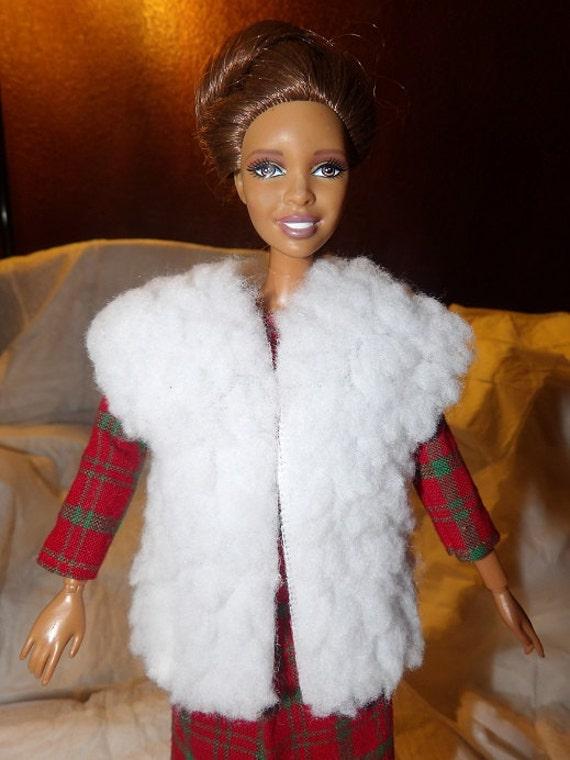 Assorted Lot of Short Long Faux Fur Animal Print Dress Coats Jackets for BARBIE