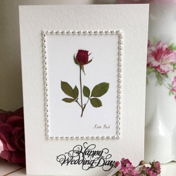 Wedding wishes rose flower card happy wedding day marriage etsy image 0 m4hsunfo