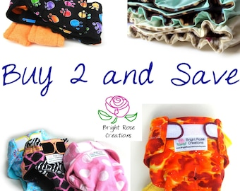 SALE Dog Diaper AND Belly Band PDF Sewng Pattern, But 2 and Save, Do It Yourself, Canine Panties, Make Any Size,