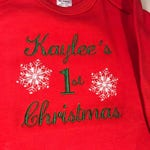 First Christmas Gown, Red Gown, Green Gown, Baby;s first Christmas, First Christmas,