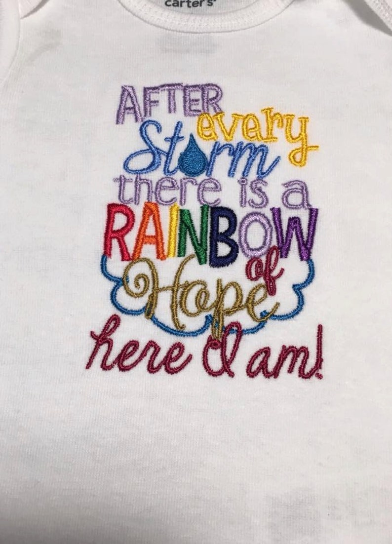 After every storm  Here I am Embroidered One Piece or t-shirt image 0