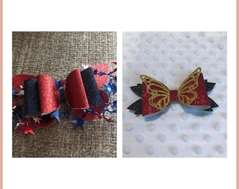 Glitter Bows - Toddler bows-Girls Bows- Hair bows- Glitter Bow - Holiday special occasion bows