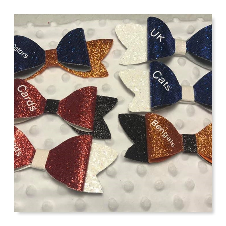 Glitter Sports Team  Bows  Toddler bows-Girls Bows Hair image 0