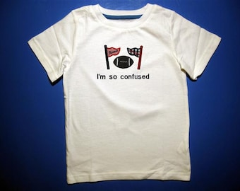 Baby one piece or toddler tshirt - Embroidery and appliqued House Divided - i'm so confused