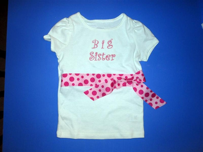 Baby one piece and toddler tshirt  Embroidered girls little image 0