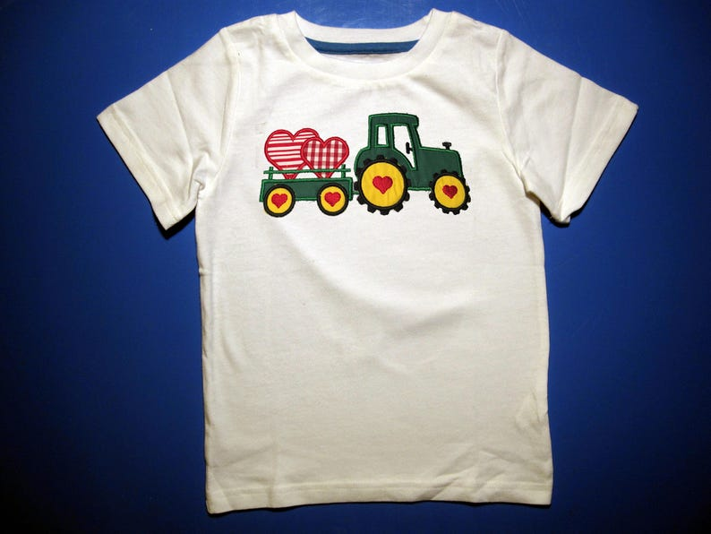 Toddler or Youth  tshirt  Embroidery and appliqued Valentine image 0