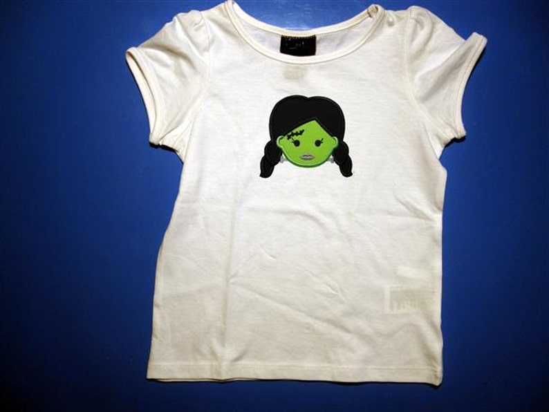 Baby one piece or  toddler tshirt  Embroidery and appliqued image 1