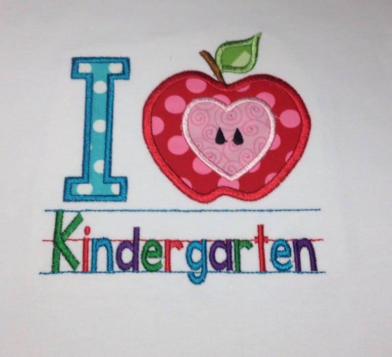 Kindergarten shirt Girls kindergarten shirt I love image 0