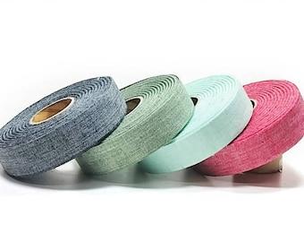 """18M Roll(app.19.69 YDs)  x 40mm(1.5"""") Linen Blend  Fabric Tape"""