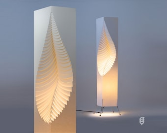 Leaf Design Paper Lamp - wire stand