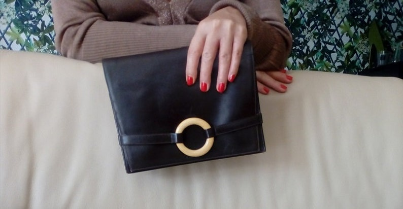 6a7b2159d83cc Vintage Leder Tasche CHRISTIAN DIOR   braun Dior Handtasche
