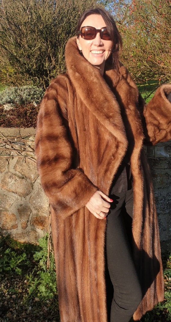 90s Fur Coat CHRISTIAN DIOR   Long Mink Coat   Dio
