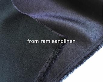 "silk fabric, Silk wool blend charmeuse/satin fabric , half yard by 44"" wide"