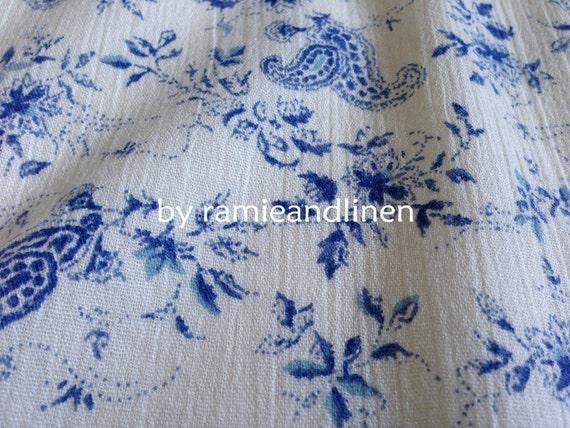 Impresión De Lona de algodón Paisley Beige peso mediano por metros