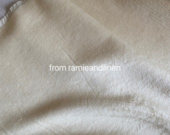 """hard to find, silk fabric,  solid color, cream/pearl white, silk cashmere blend fabric, fat quarter, 18"""" by 35"""" wide,"""