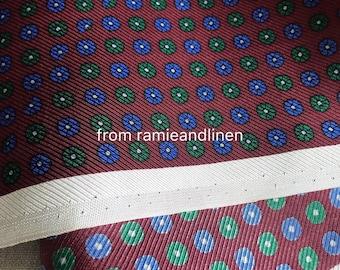 "silk fabric, mini floral pattern print silk twill fabric, tie silk, sold by piece 33"" by 45"" wide"