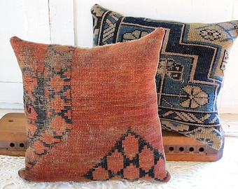 Red Kilim Rug Pillow