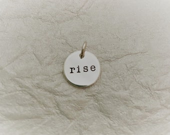 Rise Sterling Silver Charm & Necklace