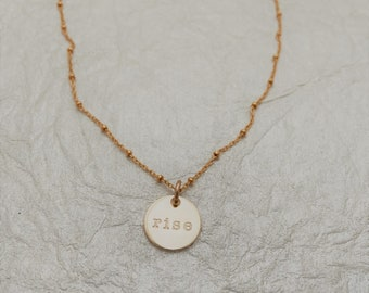 Rise Gold Charm Necklace