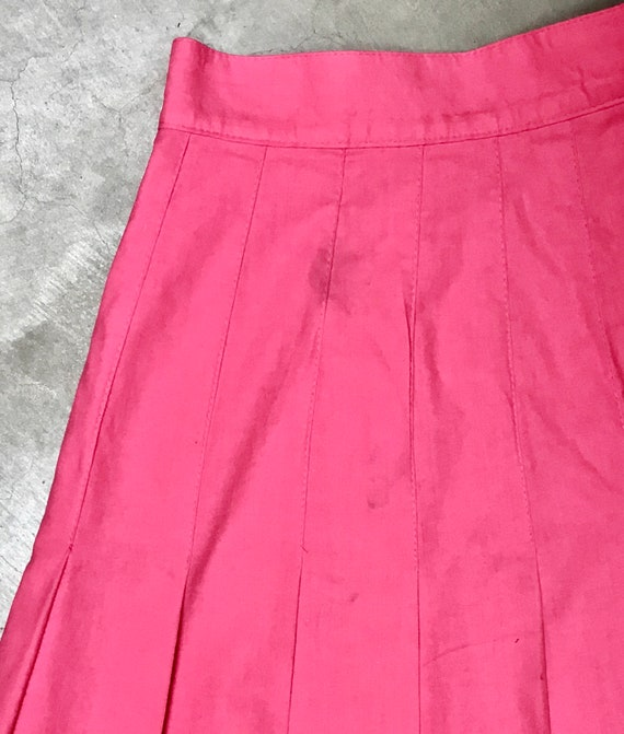 Vintage 1990s Laura Ashley Pink Cotton Skirt, 90s… - image 9