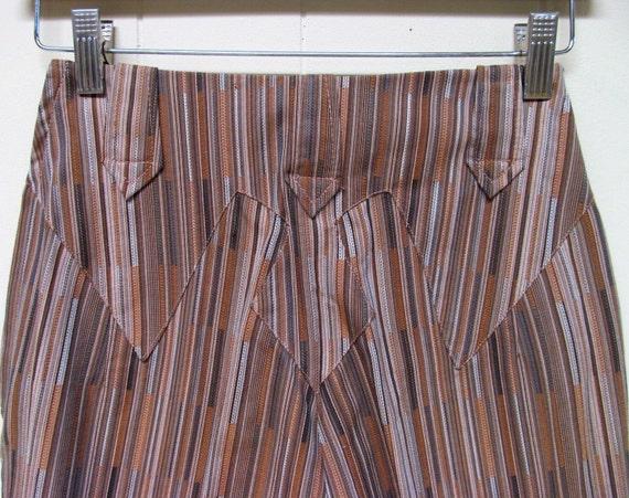 Vintage 1950s Pants, 50s Levi Strauss Brown Stripe