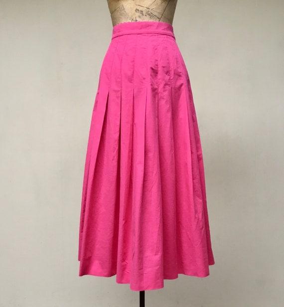 Vintage 1990s Laura Ashley Pink Cotton Skirt, 90s… - image 4