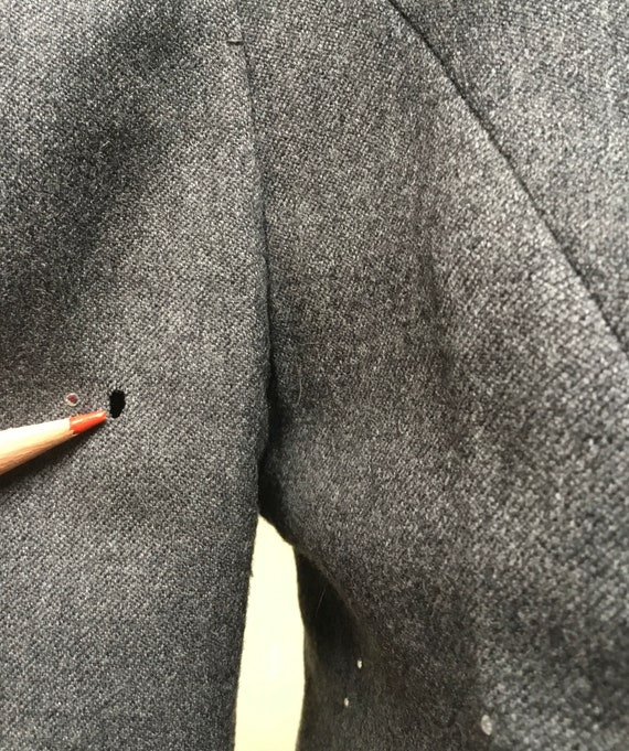 Vintage 1980s TRAVILLA Gray Wool Jacket, 80s does… - image 10