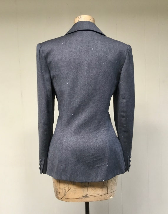 Vintage 1980s TRAVILLA Gray Wool Jacket, 80s does… - image 3