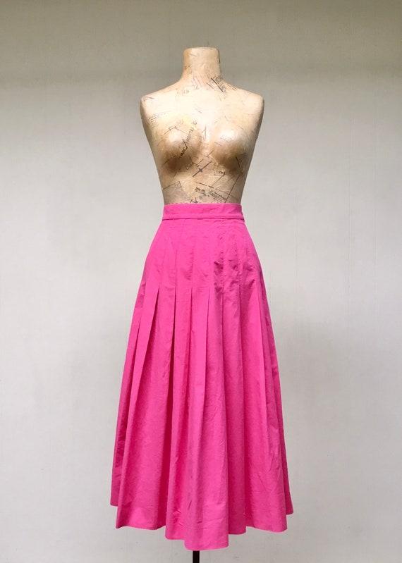 Vintage 1990s Laura Ashley Pink Cotton Skirt, 90s… - image 6