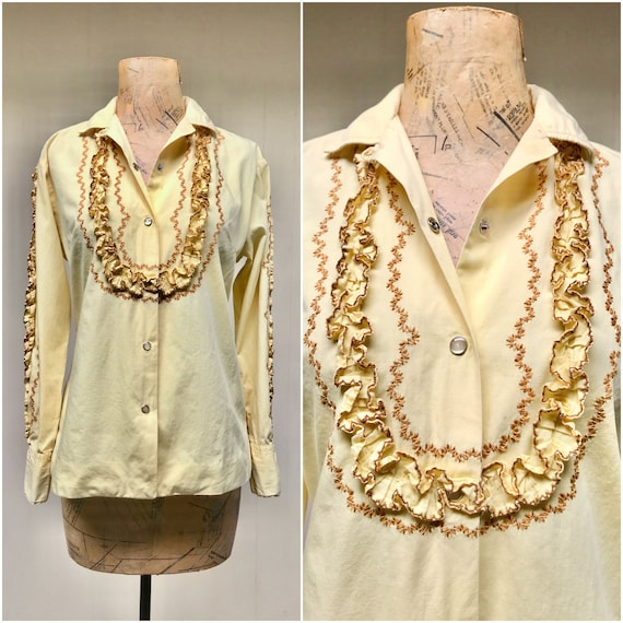 Vintage Blouse with west gypsy 1960s 60s