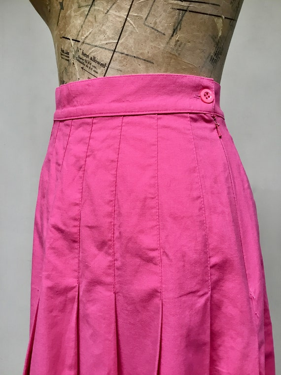 Vintage 1990s Laura Ashley Pink Cotton Skirt, 90s… - image 2