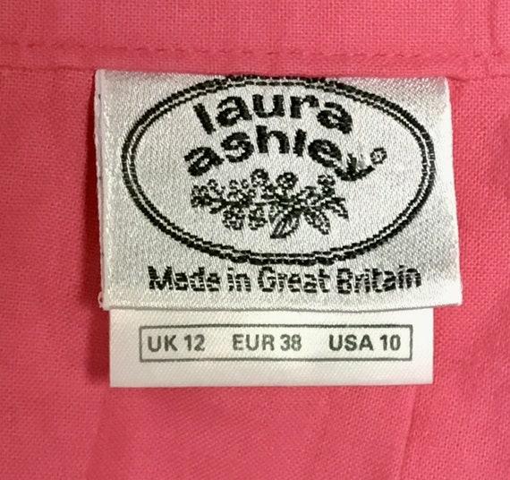 Vintage 1990s Laura Ashley Pink Cotton Skirt, 90s… - image 8