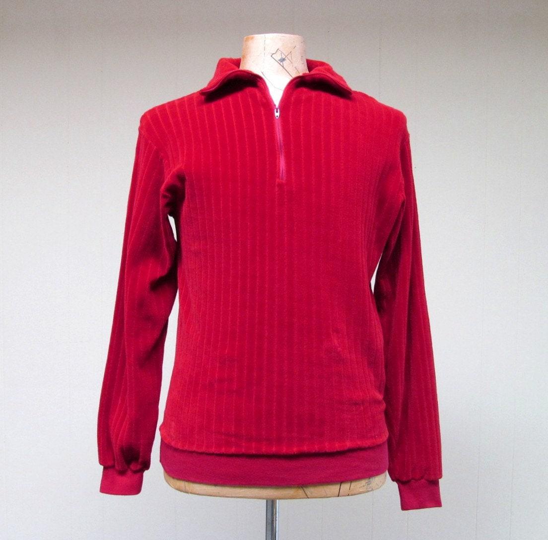 1960s – 70s Men's Ties | Skinny Ties, Slim Ties Vintage 1960S Velour Shirt, 60S Red Pullover, Unisex Medium 40 Chest $18.00 AT vintagedancer.com