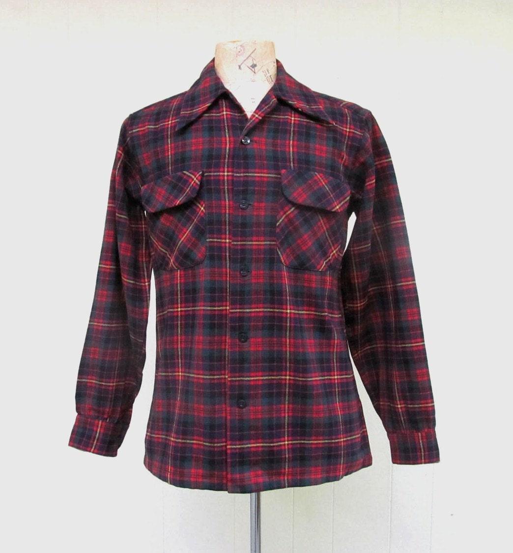 1960s – 70s Men's Ties | Skinny Ties, Slim Ties Vintage 1960S Pendleton Shirt60S Mens Red Wool Plaid Shirt, Lumberjack Small 40 Chest $58.00 AT vintagedancer.com