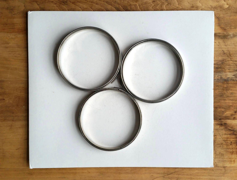 Aros de bordado vintage de Metal. Tres aros metálicos. Decoración ...