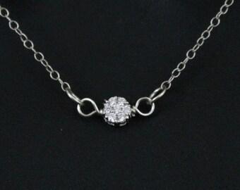 Delicate Necklace, Dainty Necklace, Bride Necklace, Cubic Zirconia, CZ Necklace, Gift for Her, Bridesmaid Necklace, bridal necklace, wedding