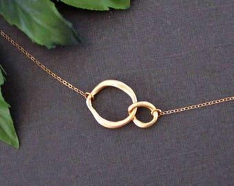 Infinity Necklace, Dainty Necklace, Minimalist Necklace, Gold Necklace, Friendship Necklace, Sister Necklace, Girlfriend Gift, Silver