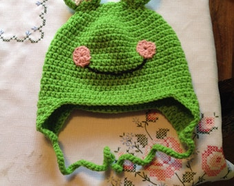 Crochet Frog Hat Made to Order