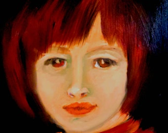 Red: A Portrait Study - Oil on Panel