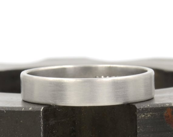 Men's 4mm Palladium Ring 950 Recycled Palladium Wedding Band, Eco Friendly Sustainable Jewelry