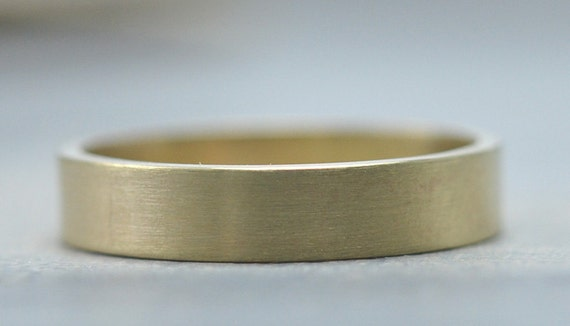 Gold Wedding Band 14K Recycled Gold, Men's Ring