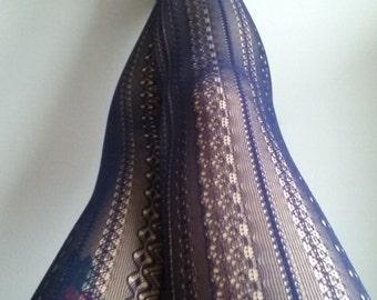 Navy Tights Skinheadgirl stockings pantyhose suededead