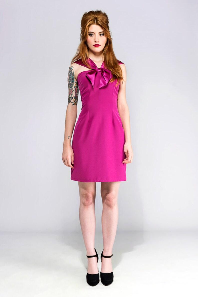 2e019256bd0 SAMPLE SALE Size M Pin up party Fuchsia 50s 60s dress