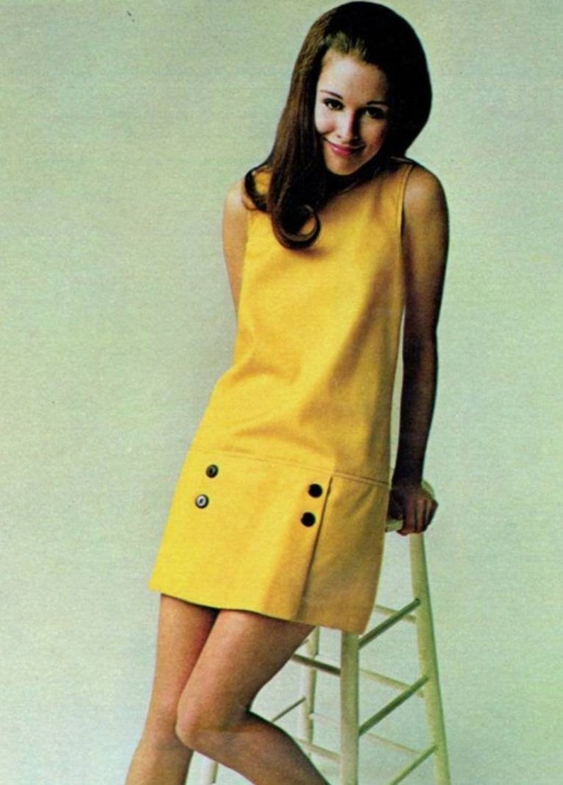60s Dresses | 1960s Dresses Mod, Mini, Hippie Mod yellow dress 60s mini dress Mondrian dress 1970s dress shift dress 60s mini dress pop art dress iconic dress $137.00 AT vintagedancer.com