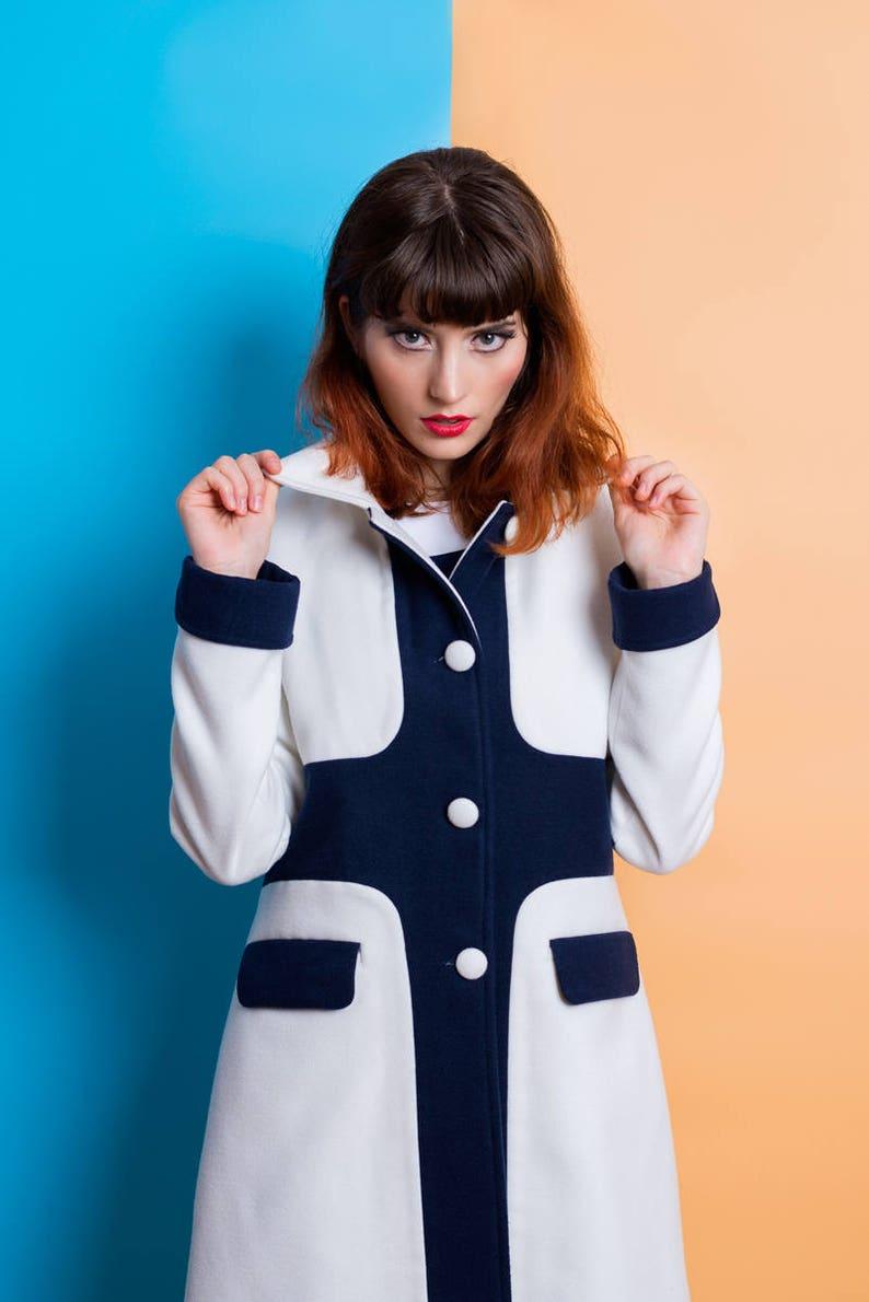 Vintage Coats & Jackets | Retro Coats and Jackets MOD soft wool coat 60s retro mod set custom made $318.00 AT vintagedancer.com