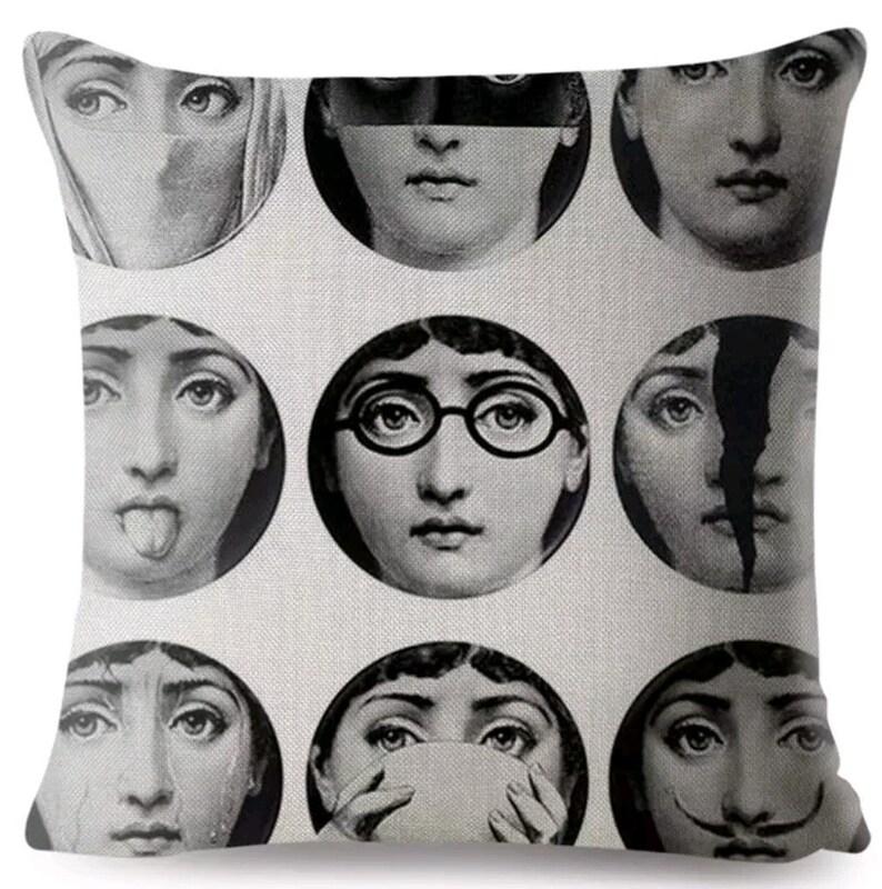 Fornasetti Pillow Cover Cushion Mid century Design Fornasetti image 0
