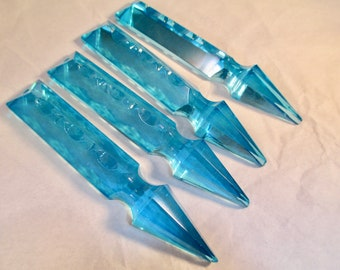 Chandelier crystals etsy set of 4 irregular aqua chandelier crystals aqua 100mm arrow spear chandelier crystals final sale aloadofball Choice Image